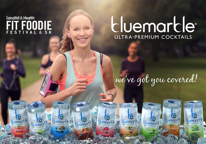 BLUE MARBLE COCKTAILS PARTNERS WITH EATINGWELL & HEALTH FIT FOODIE FESTIVAL & 5K BENEFITTING NO KID HUNGRY