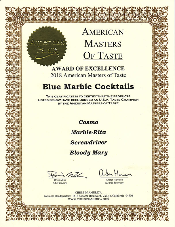 Blue Marble Award of Excellence