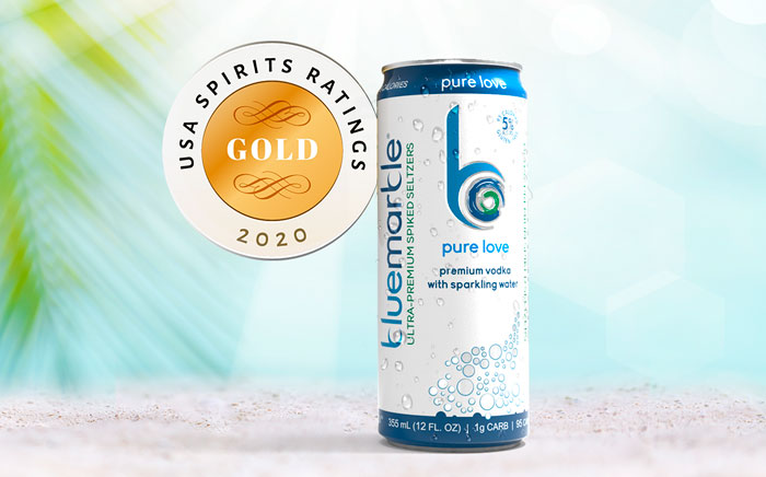 Pure Love Seltzer Takes Home Gold Medal in the 2020 USA Spirit Ratings Competition